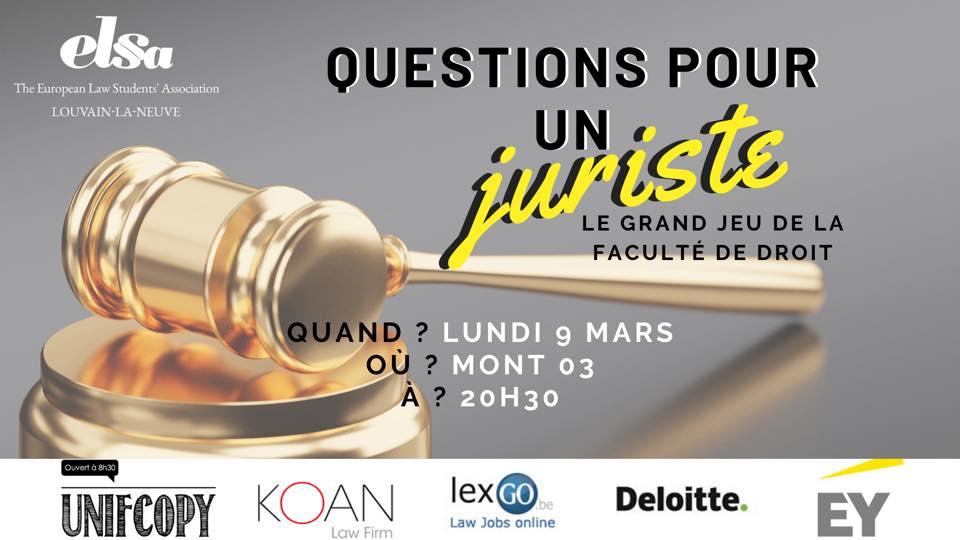 Questions pour un juriste